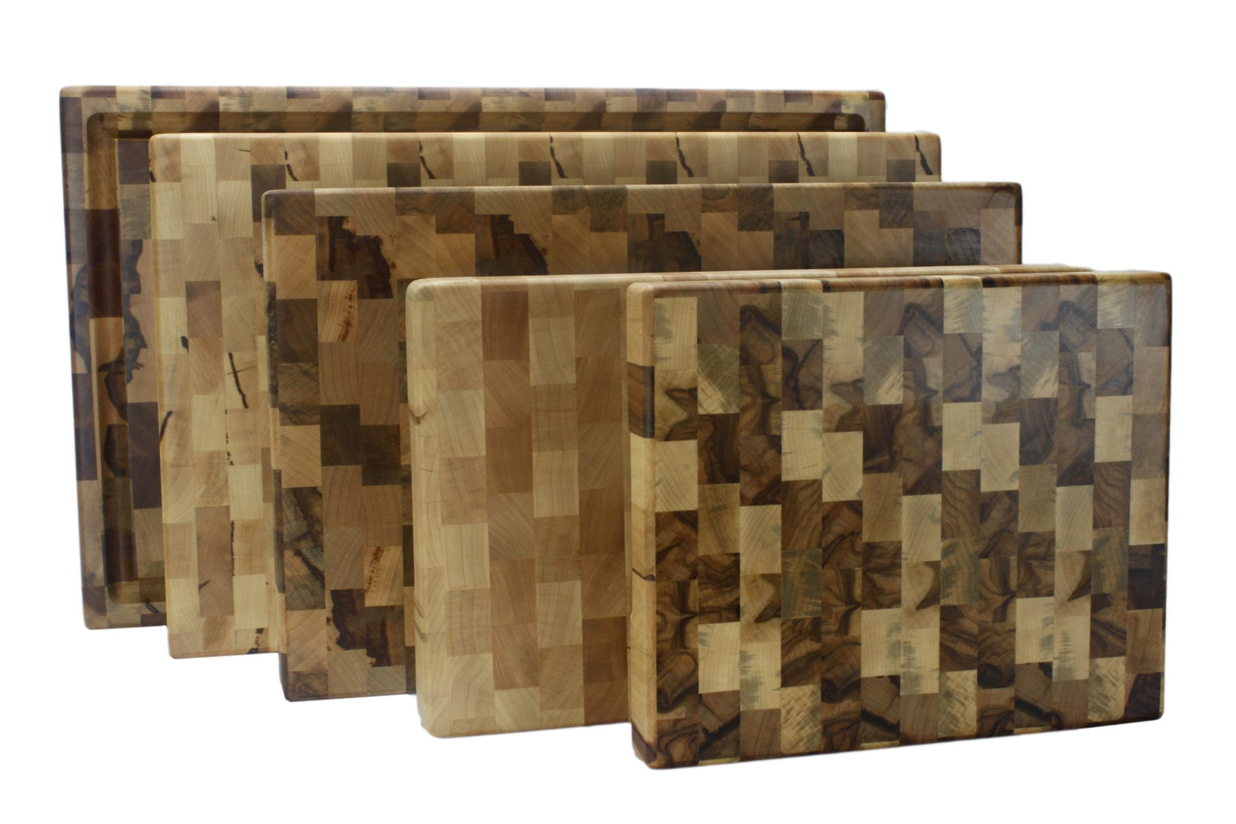 End Grain Cutting Boards - Family Photo